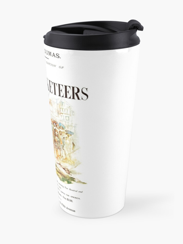 Alternate view of HIGH RESOLUTION The Three Musketeers Alexandre Dumas Vintage Book Cover Travel Mug