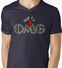 OMG What? Funny & Cute ladybug line art Men's V-Neck T-Shirt