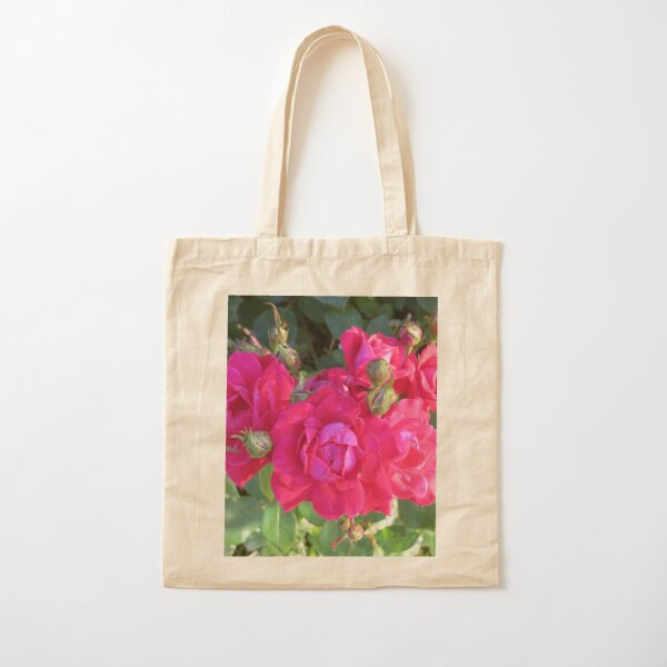 Beautiful old fashioned red roses Cotton Tote Bag