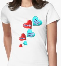 Love like you've never been hurt.hearts art T-Shirt