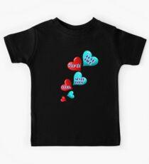 Love like you've never been hurt.hearts art Kids Tee