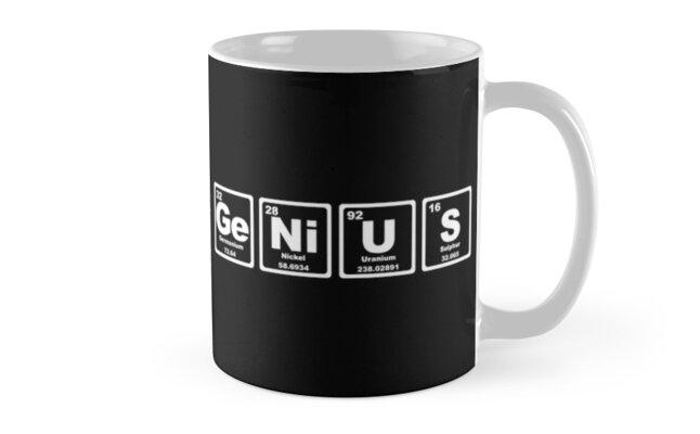 Genius periodic table mugs by graphix redbubble genius periodic table by graphix urtaz Images