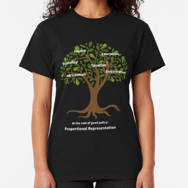 At the root of good policy - for dark backgrounds Classic T-Shirt
