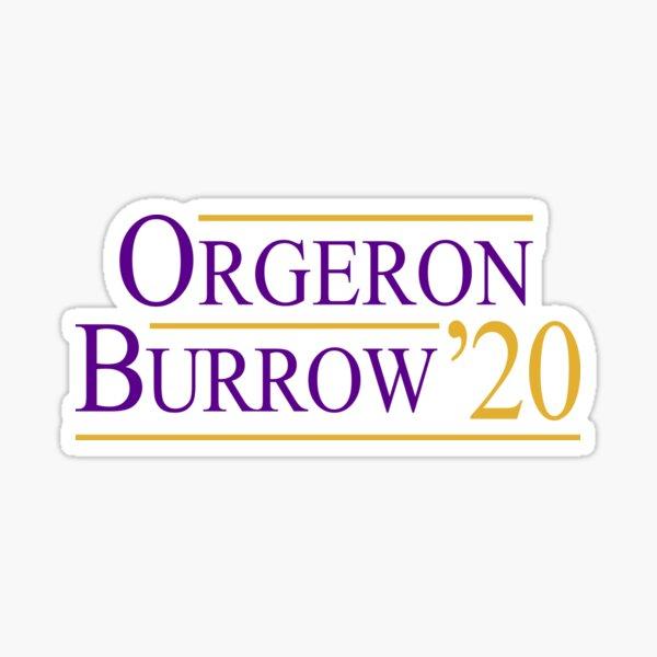 Orgeron Burrow 2020 Sticker