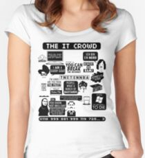 The IT Crowd Quotes Women's Fitted Scoop T-Shirt