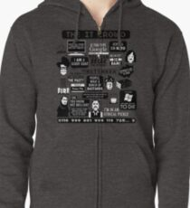 The IT Crowd Quotes Zipped Hoodie