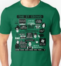 The IT Crowd Quotes Slim Fit T-Shirt
