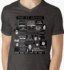 The IT Crowd Quotes Men's V-Neck T-Shirt