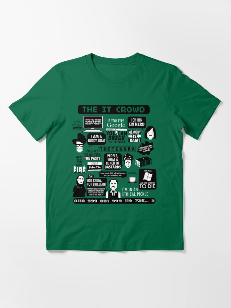 NEW LIMITED The IT Crowd Quotes Essential T-Shirt S-2XL