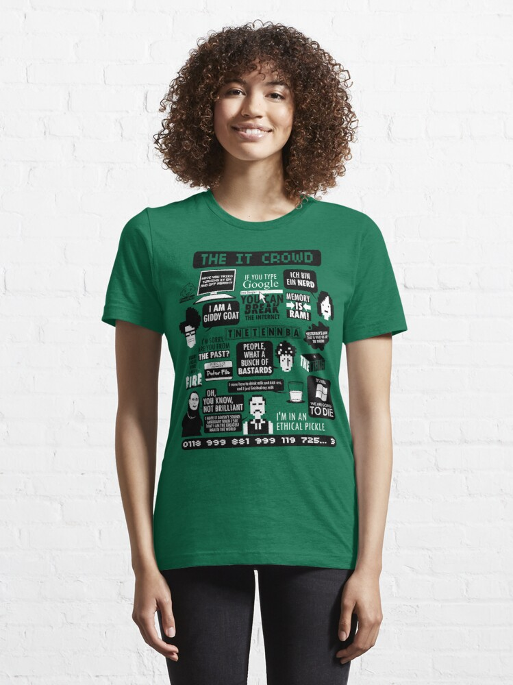 Alternate view of The IT Crowd Quotes Essential T-Shirt