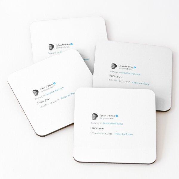 Dylan O'Brien Trump Hate Tweet Coasters (Set of 4)