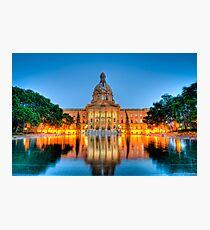 Legislature at Night Photographic Print