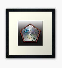 A Floral Wooden Shield Framed Print