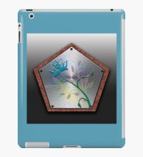 A Floral Wooden Shield iPad Case/Skin