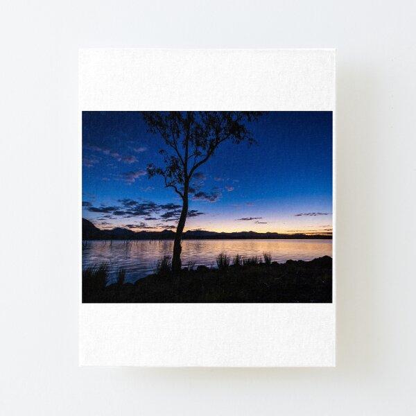 Dusk at the lake  Canvas Mounted Print
