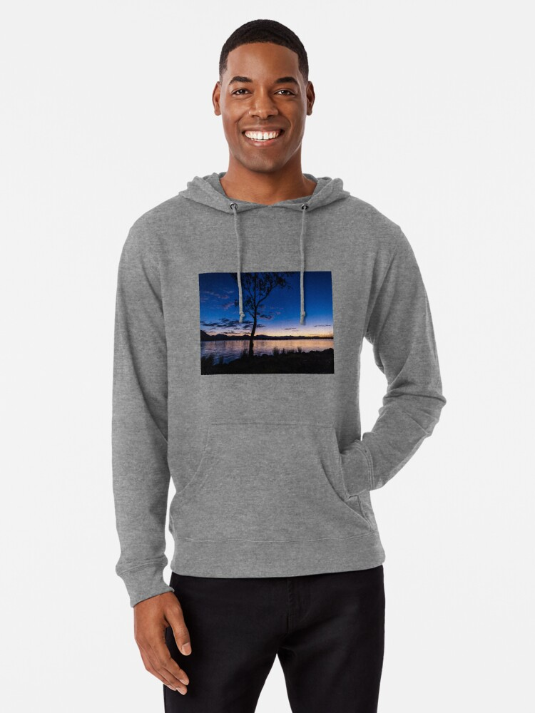 Alternate view of Dusk at the lake  Lightweight Hoodie