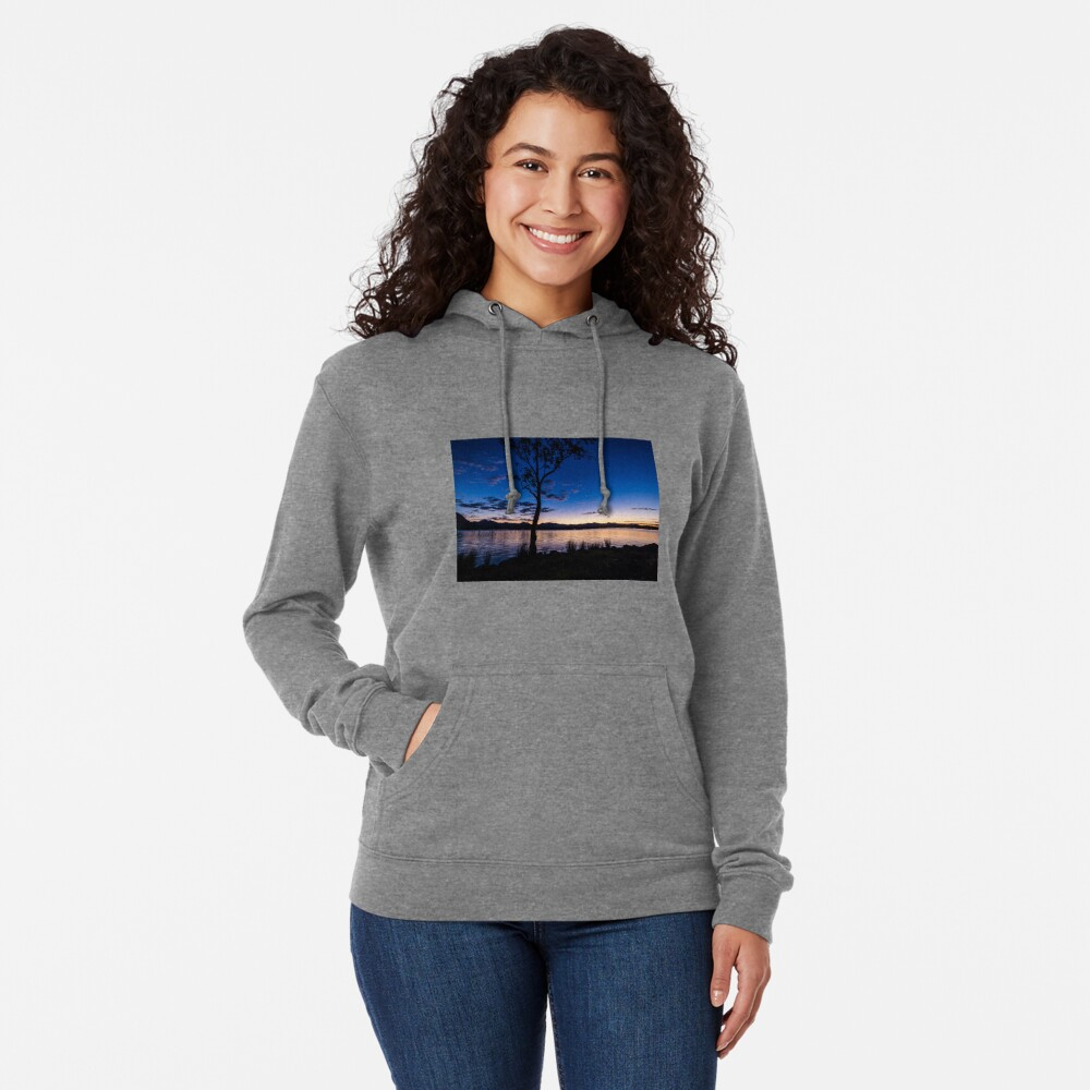 Dusk at the lake  Lightweight Hoodie