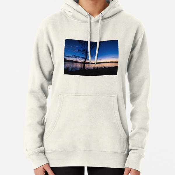 Dusk at the lake  Pullover Hoodie