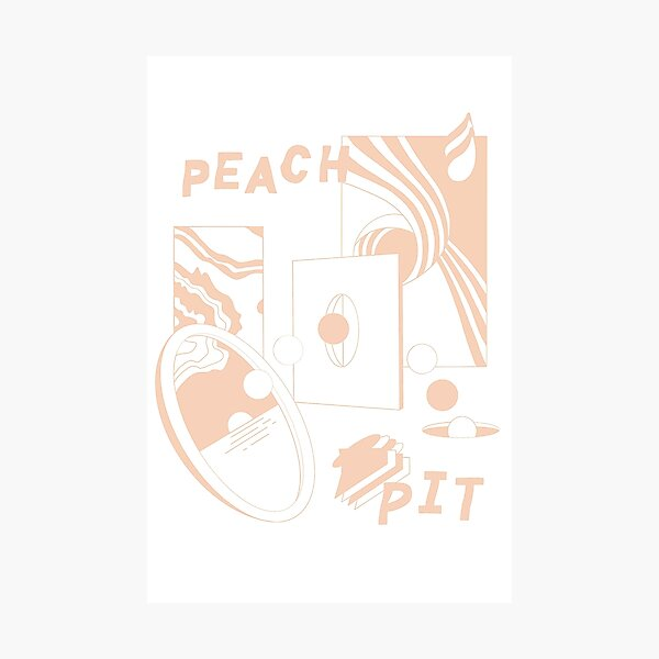 PEACH PIT Photographic Print