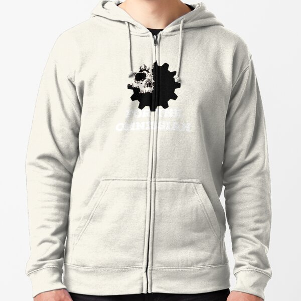 Holy Cog Inverted Zipped Hoodie