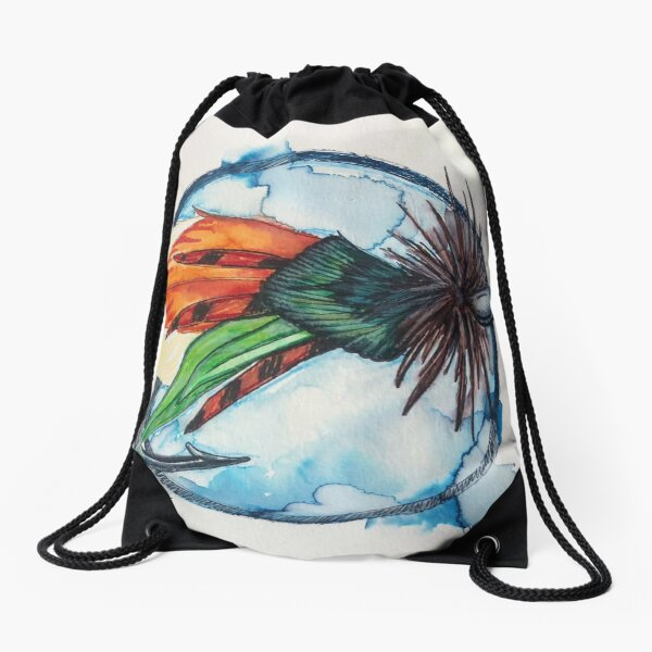 Casting Moon Drawstring Bag