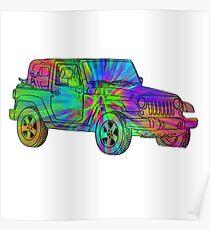 Tie Dye Jeep Poster