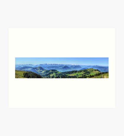 Mt Rigi HDR Panorama Art Print