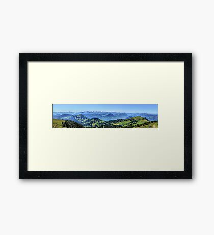 Mt Rigi HDR Panorama Framed Print