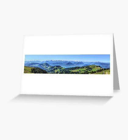 Mt Rigi HDR Panorama Greeting Card