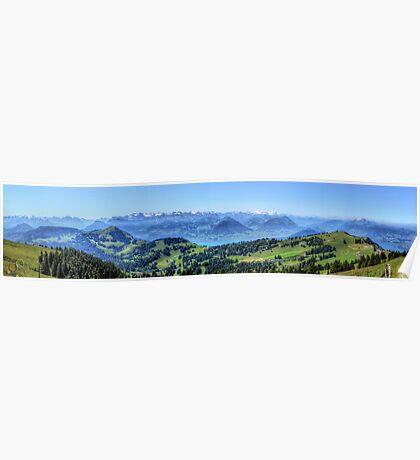 Mt Rigi HDR Panorama Poster