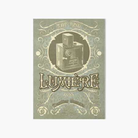Lumiere 1895 Camera Art Board Print