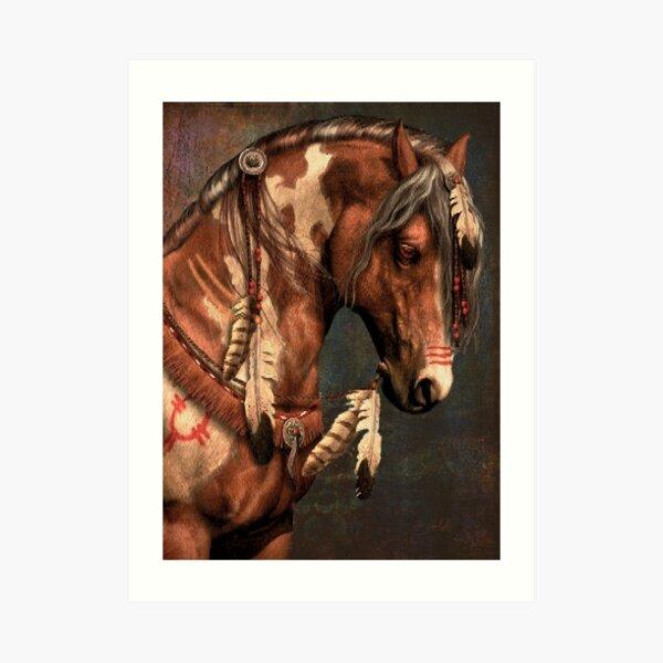 War Horse - Native American Painted Horse Art Print