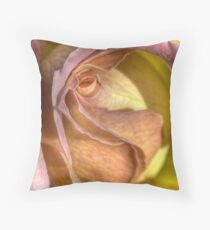 Secretive Rose Throw Pillow