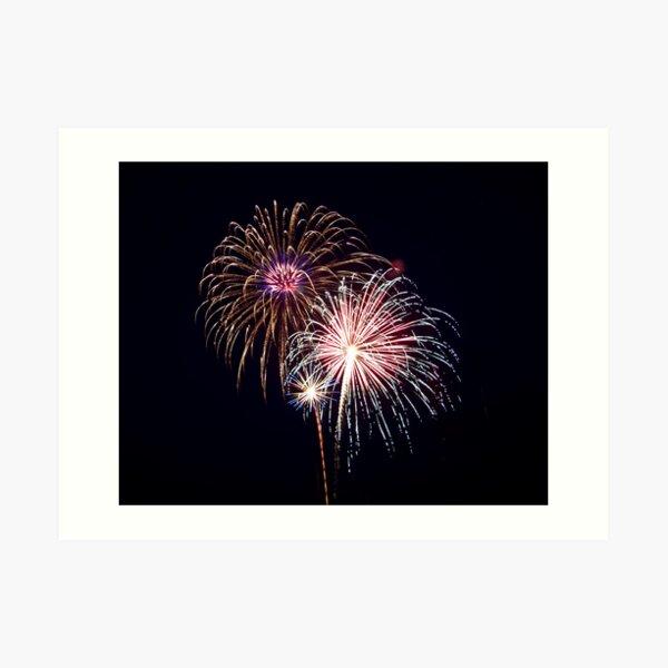 2011 Wolfeboro Fireworks I Art Print