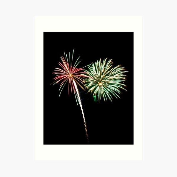 2011 Wolfeboro Fireworks V Art Print