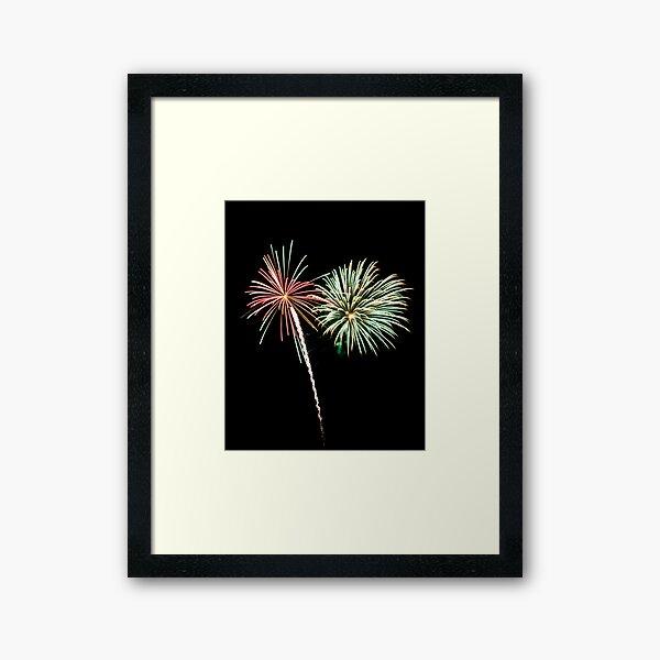 2011 Wolfeboro Fireworks V Framed Art Print