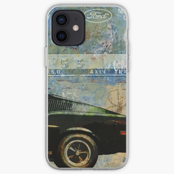 Ford Mustang Retro Classic Print Coque souple iPhone