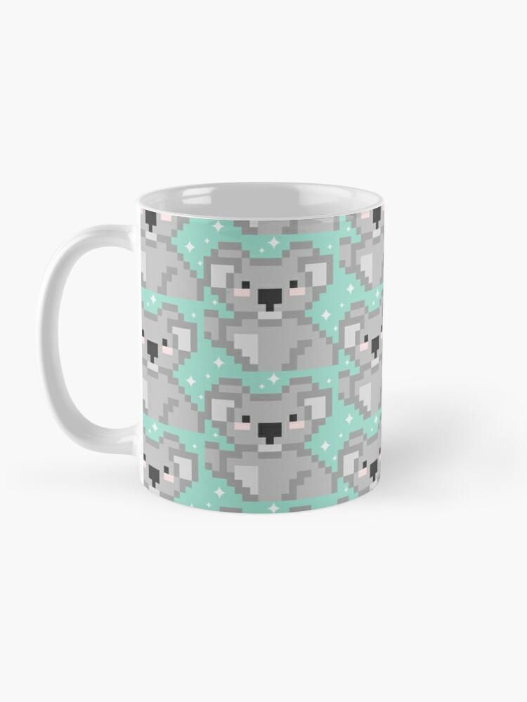 Vista alternativa de Taza Koala pixel kawaii