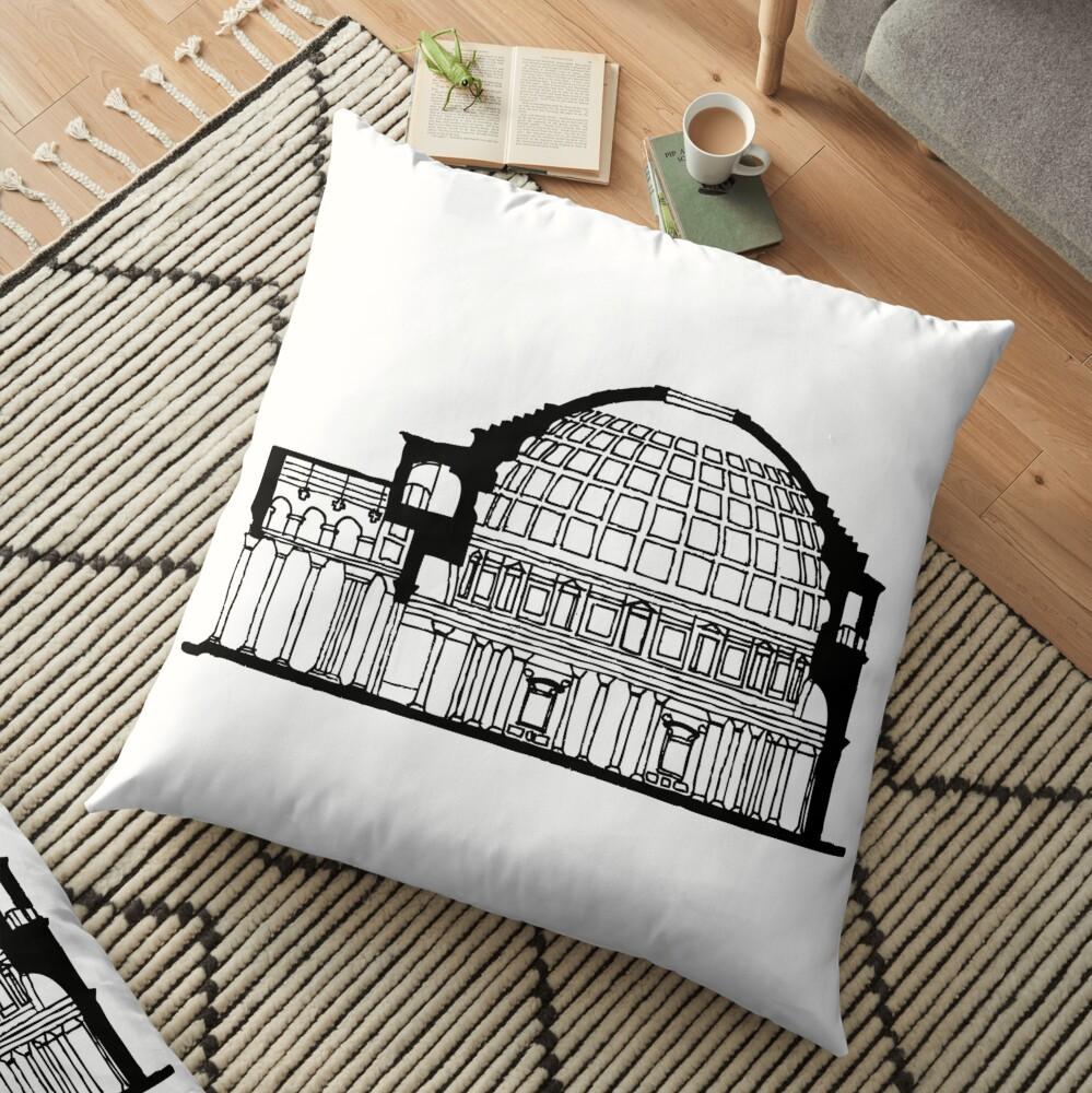 Pantheon Rome  Floor Pillow