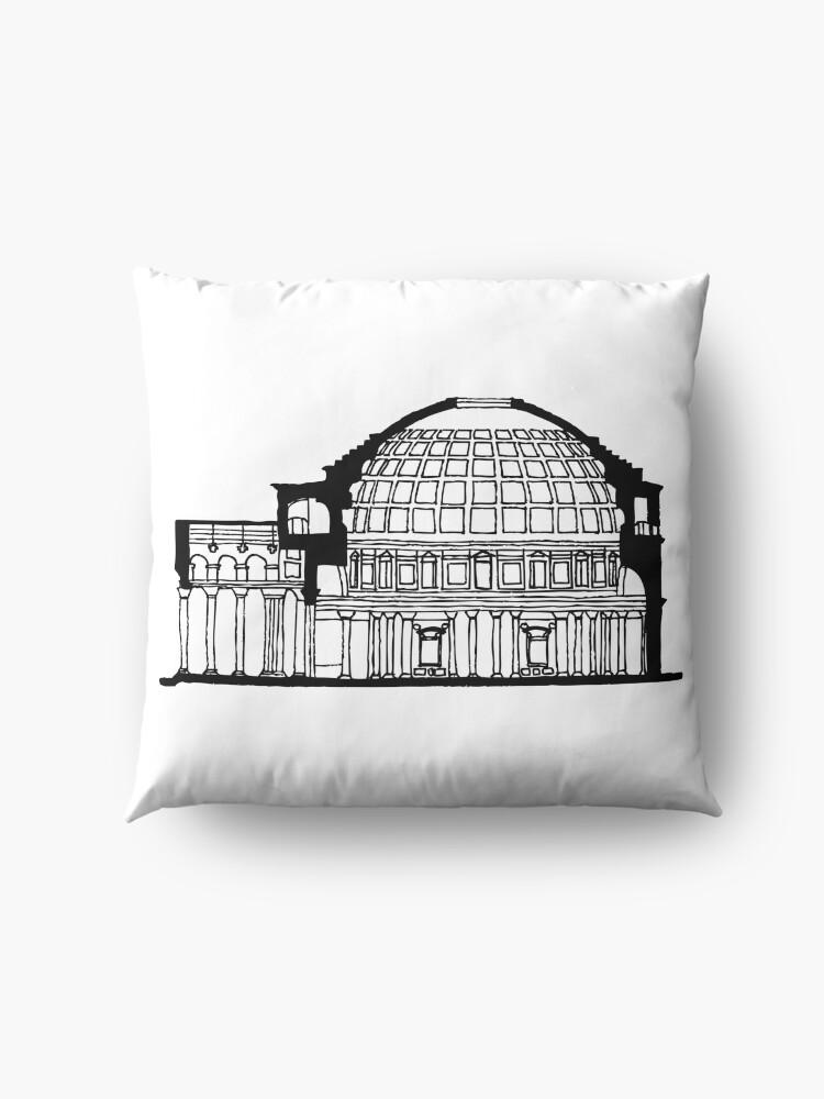 Alternate view of Pantheon Rome  Floor Pillow