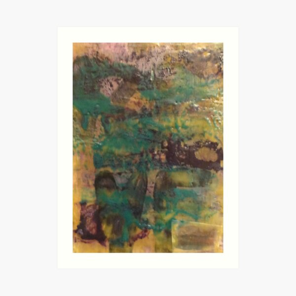 Encaustic Abstract Art Print