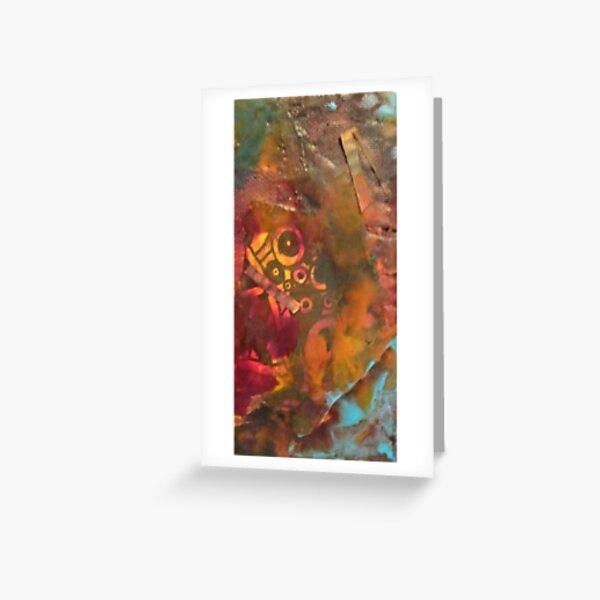Encaustic Abstract Greeting Card