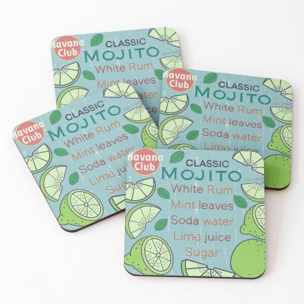 Classic Mojito Coasters (Set of 4)