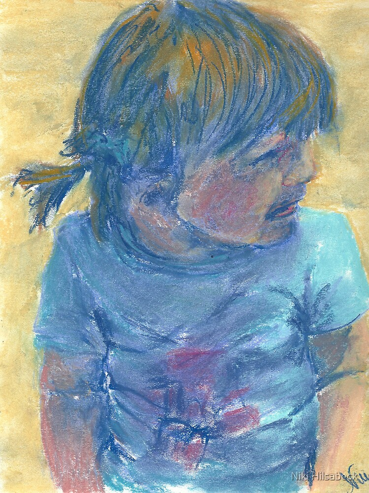 Little Cali Girl (pastel) by Niki Hilsabeck