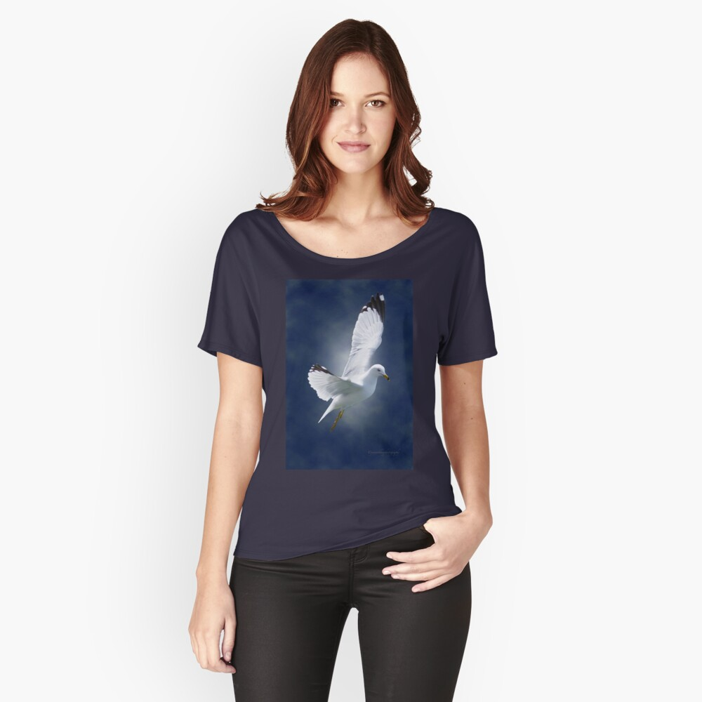 White Gull Women's Relaxed Fit T-Shirt Front