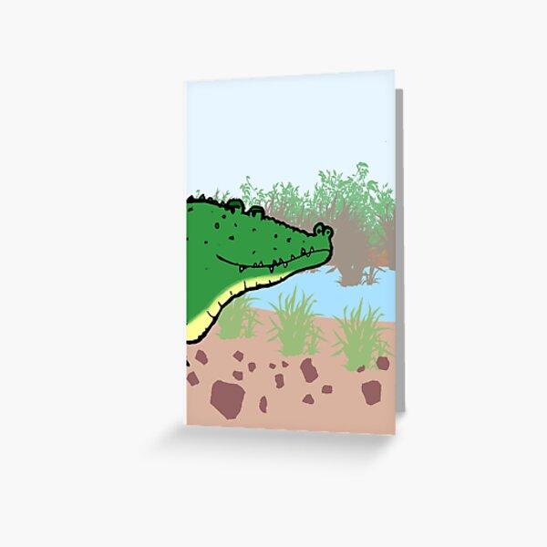 Cheeky Crocodile Greeting Card