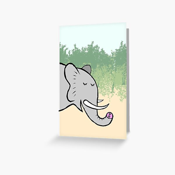 Serene Elephant Greeting Card