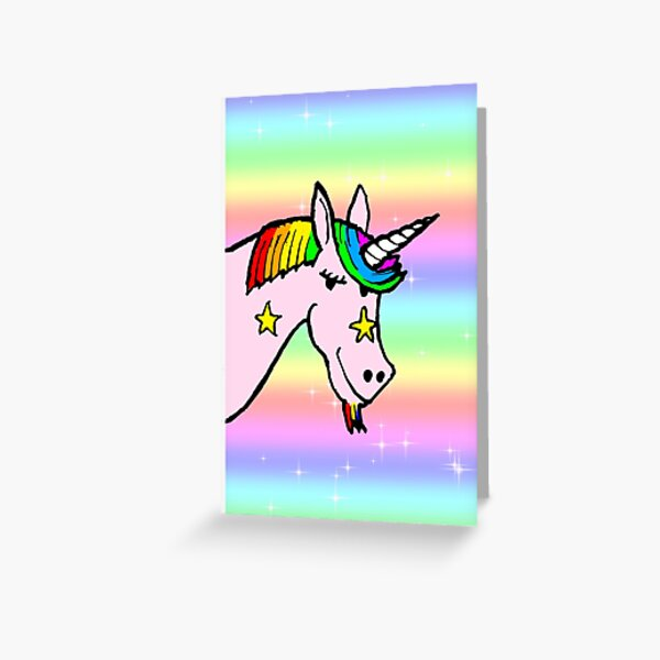 Flashy Unicorn Greeting Card