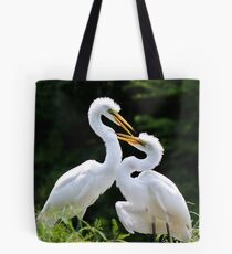 Egret Love Tote Bag