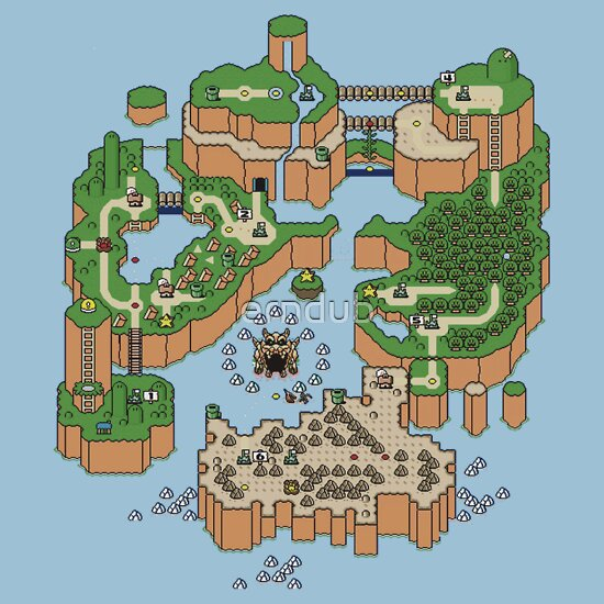 TShirtGifter presents: Super mario world map